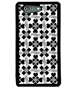 Fuson Premium Hearts n Spades Metal Printed with Hard Plastic Back Case Cover for Sony Xperia Z4 Mini