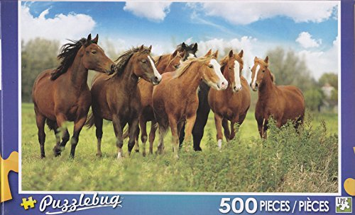 Puzzlebug 500 Piece Puzzle ~ Herd of Horses - 1