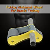 Texay TM Folding Double-Wheeled No Noise Green Abdominal Wheel Ab Roller With Mat For Muscle Exercise Fitness...