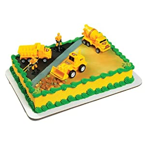 Construction Scene Cake Topper Kit