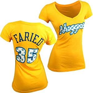 Denver Nuggets NBA Kenneth Faried #35 Ladies Tri-Blend Name & Number T-Shirt S by Majestic Threads