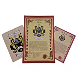 Fishborne Coat of Arms, Family Crest and Name History - Three Print Combo - England Origin