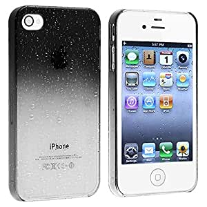 Insten® Snap-on Case compatible with Apple® iPhone® 4 / 4S , Clear Smoke Waterdrop Ultra Thin