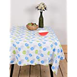 Table Cover Blue Flower 60 By 90 Inches Table Cloth Table Linen 100% Cotton Dining Table Cover