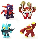 Skylander Talking Plush BUNDLE 4 TOYS - GILL GRUNT, ERUPTER, SPYRO & TRIGGER HAPPY (dispatched from UK)