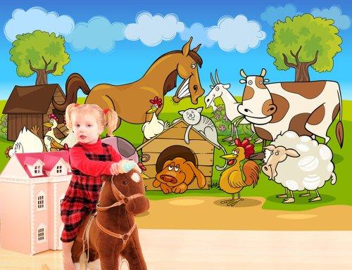 Fototapete kinderzimmer bauernhof  Bild Kinderzimmer Bauernhof – Quartru.com