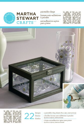 Martha Stewart Outline Glass Cling, Gate Scrolls