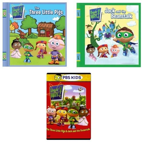 Amazon.com: Super Why! The Three Little Pigs & Jack and the Beanstalk