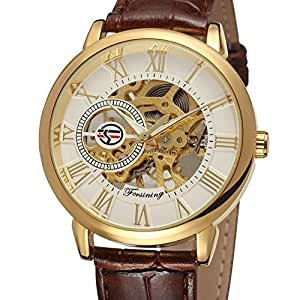 Genuine Leather Reloj De Lujo Gift Saat/Fsg M G : Sports & Outdoors