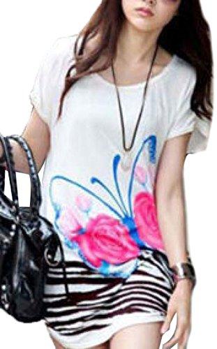 Girl Mini Dress Short Sleeve Clothes Casual Summer Tops Blouse Shirt