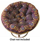 Cotton Craft - Papasan - Suzani Crewel Embroidered Chocolate Multi - Overstuffed Chair Cushion - Sink into our Really Thick and Super Comfortable Papasan Cushion - Pure 100% Cotton duck fabric - Perfect fit for your dorm, den or just about anywhere you want to be comfy and pampered - Fits Standard 45 inch round Papasan Chair - Chair not included