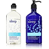 Bath And Body Works Aromatherapy Stress Relief Lavender Vanilla 10 Oz Body Wash & Foam Bath And 6.5 Oz Body Lotion...