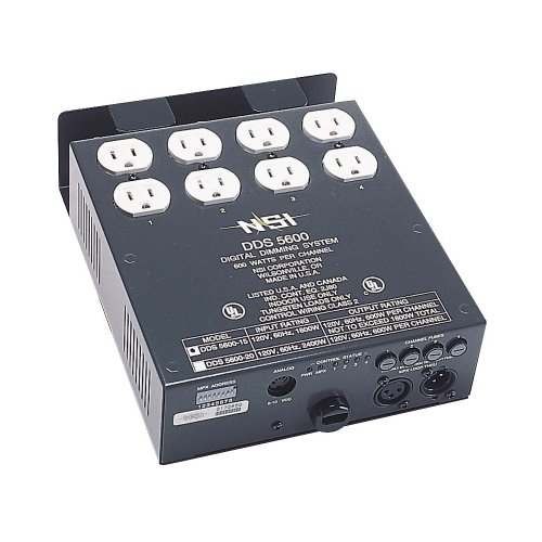 Leviton N5600-D00 4-Channel 600 Watt/Channel 15-Amp Power Supply Cord Dimmer/Relay System, Micro-Plex And 0-10V, Dmx Installed, 120V
