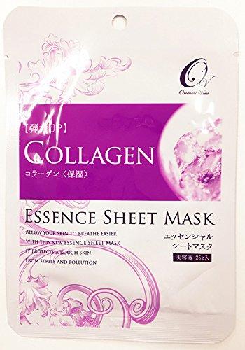 マスクパック オリエンタルビュー エッセンス シート マスク コラーゲン 25g 100枚セット 韓国