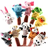 Surprise-27th(TM) Animal Finger Puppet Soft Plush Baby Educational Hand Cartoon Toys