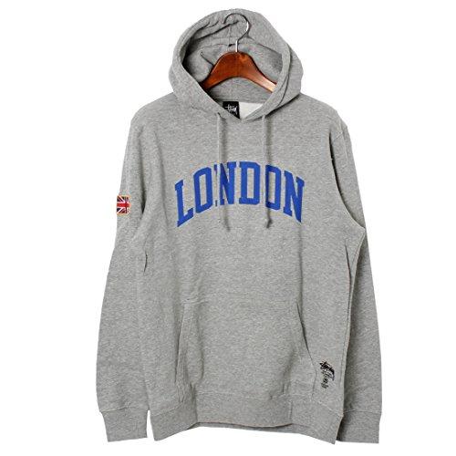 (ステューシー)STUSSY LONDON IST プルオーバー パーカー 1923581 メンズ 01.グレーヘザー M [並行輸入品]