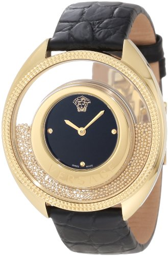 "Versace Women's 86Q70D008 S009 ""Destiny Spirit"" Gold-Plated Watch with Leather Band image"
