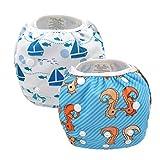 Alvababy paquete de pañales reutilizables y impermeables para natación, 2pcs en un paquete SW05-07-ES