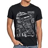 style3 DMC-12 Blueprint T-Shirt Men future schematics
