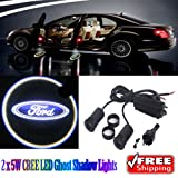 Generic 2 x 5W LED Car Ghost Shadow Lights For Ford Focus Fiesta Fusion Escape