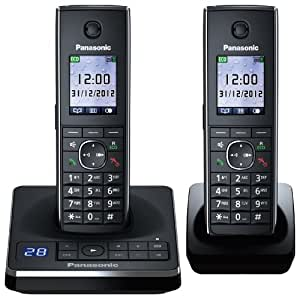Panasonic KX-TG8562EB Twin Corldess DECT Telephone set with Colour screen and Answer Machine.