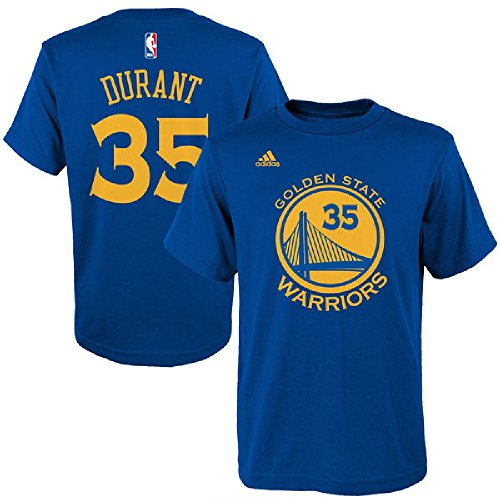 NBA Boys #35 Kevin Durant Golden State Warriors Name & Number T-Shirt, Medium (10-12), Royal (Nba Clothing compare prices)