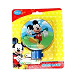 Disney Mickey Mouse Night Light- This Colorful Nightlight Decorated with Mickey Is Perfect for Lighting Those Hallways, Bedrooms, Nursery or Entryways.