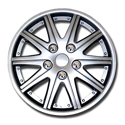 TuningPros Style# 027 Hubcaps Wheel Skin Cover Silver Set of 4