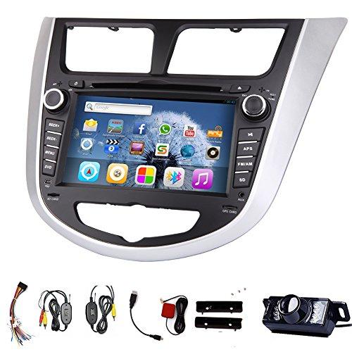 PUPUG Android 4.2 Auto DVD-Player f¨¹r Verna (2010-2015) Autoradio 2 DIN Auto-DVD GPS Radio-Lenkrad WiFi Radio In Dash Navigation Unterst¨¹tzung Bluetooth FM / AM-Autoradio mit kostenlosen R¨¹ckseitige Kamera