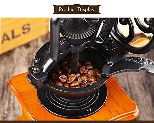 YOOYOO Retro Style Burr Coffee Grinder Hand Grinding Machine Hand-crank Roller (TAN) 3