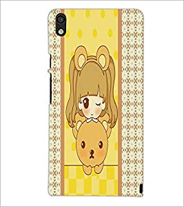 PrintDhaba cartoon D-3824 Back Case Cover for HUAWEI ASCEND P6 (Multi-Coloured)