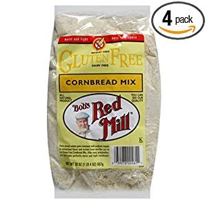 Bob's Red Mill Gluten-Free Cornbread Mix, 20-Ounce Units (Pack of 4)