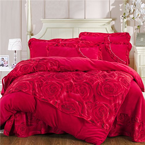 Coral Duvet Cover Queen front-1036758