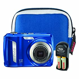 Kodak EasyShare C143 12.5 MP Digital Camera with 3x Optical Zoom (Blue Bundle)