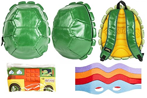 Teenage Mutant Ninja Turtles 3D Padded Shell Backpack w/ Party Wagon Pencil Case & Masks