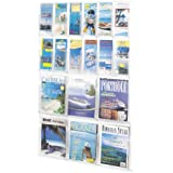 Safco Products 5600CL Reveal Literature Display, 6 Magazine and 12 Pamphlet , Clear