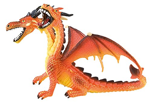 Bullyland Fantasy: Double Headed Orange Dragon