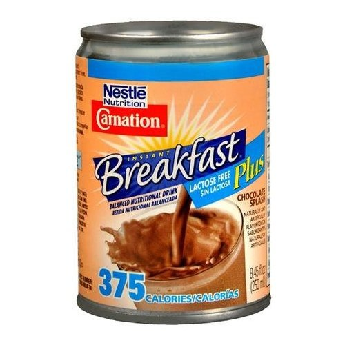 Carnation Breakfast Lactose Free Plus (Chocolate) (250 ml Can) (by the Each)