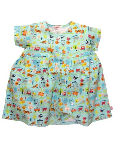 Circus Short Sleeve Dress by Zutano - Buy Circus Short Sleeve Dress by Zutano - Purchase Circus Short Sleeve Dress by Zutano (Zutano, Zutano Apparel, Zutano Toddler Girls Apparel, Apparel, Departments, Kids & Baby, Infants & Toddlers, Girls, Skirts, Dresses & Jumpers, Dresses)