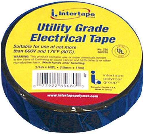 """Camco 65085 Black 3/4"""" X 60' Pvc Electrical Tape"""