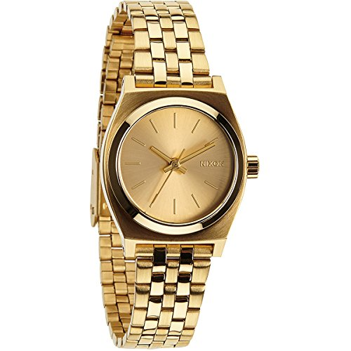 nixon-small-time-teller-champagne-dial-gold-tone-ladies-watch-a399502