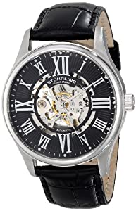 Stuhrling Original Men's 747.02 Classic Atrium Analog Display Automatic Self Wind Black Watch
