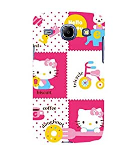 printtech Kitty Funny Cute Back Case Cover for Samsung Galaxy A5 / Samsung Galaxy A5 A500F