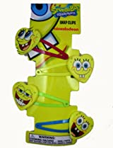 Spongebob Hair Clips - Nickelodeon Spongebob Squarepants Hair Snaps (8pcs Set)