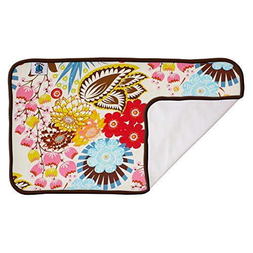 Planet Wise Designer Waterproof Diaper Pad, April Flowers - 1