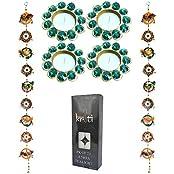 Kriti Creations Traditional Door Hangings With Designer Metal Diyas Combination Pack
