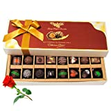 Ultimate Combination Of Dark And Milk Chocolates With Red Rose - Chocholik Belgium Chocolates