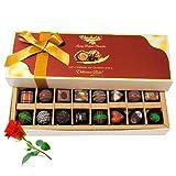 Ultimate Combination Of Dark And Milk Chocolates With Red Rose - Chocholik Belgium Chocolates