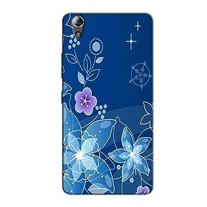 BLUE FLOWER DESIGN BACK COVER LENOVO A6000