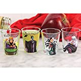 Disney Villains Shot Glasses Set/4 - Evil Queen, Maleficent, Cruella, Ursula